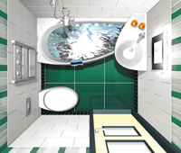 Угловая ванная AVOCADO