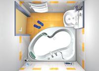 Угловая ванная ROSA 150